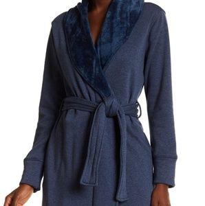UGG Womens Duffield ll Robe- Navy Blue